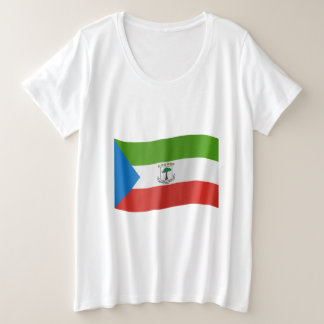 Equatorial Guinea Flag Plus Size T-Shirt