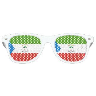 Equatorial Guinea Flag Retro Sunglasses
