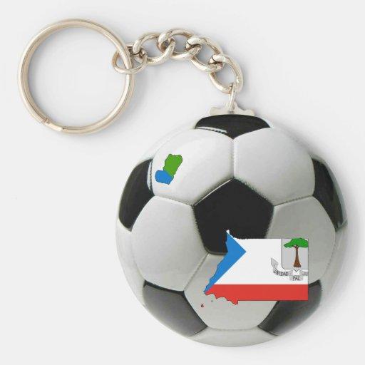 Equatorial Guinea football soccer Keychain