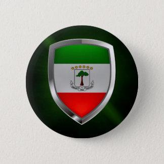Equatorial Guinea Mettalic Emblem 6 Cm Round Badge