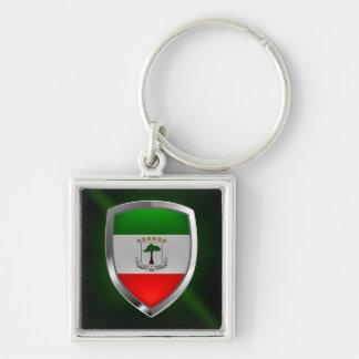 Equatorial Guinea Mettalic Emblem Key Ring