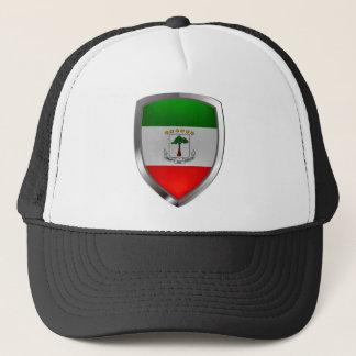Equatorial Guinea Mettalic Emblem Trucker Hat