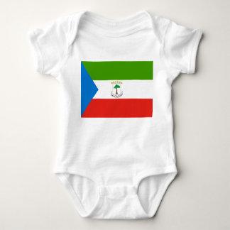 Equatorial Guinea National World Flag Baby Bodysuit