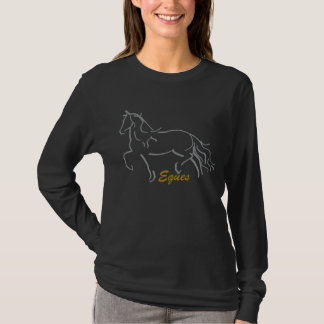 Eques Friesian Horse Long Sleeve Tee