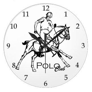 equestria polo sport club large clock