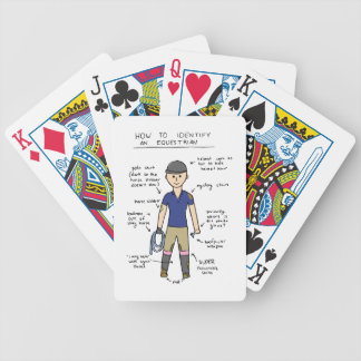 Equestrian Bicycle Playing Cards