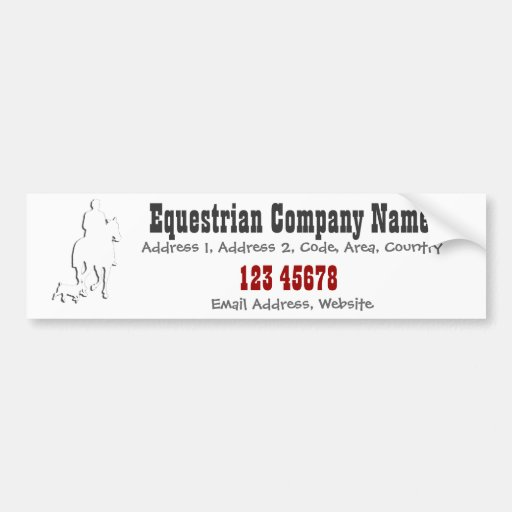 Equestrian Business Theme Collection Bumper Stickers
