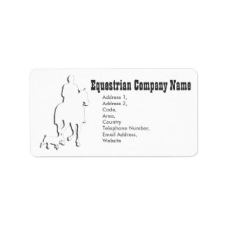 Equestrian Business Theme Collection Address Label