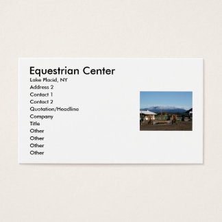 Equestrian Center, Lake Placid, NY, A... Business Card