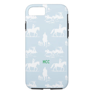 Equestrian Chinoiserie Fox Hunt Monogram Custom iPhone 7 Case