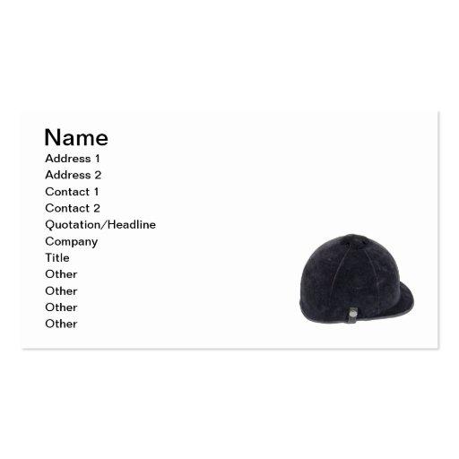 Equestrian Helmet Business Card Template