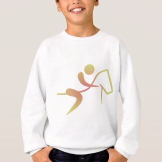 Equestrian Horseback Riding Flame icon Horse Sweatshirt