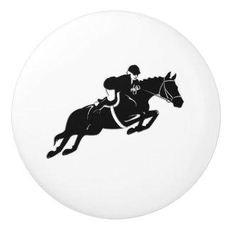 Equestrian Jumper Ceramic Knob