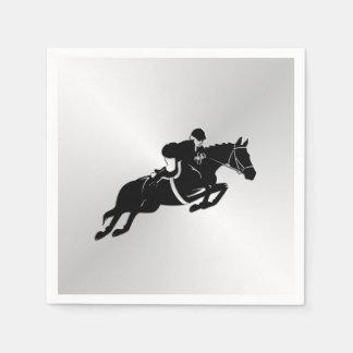 Equestrian Jumper Horse Paper Napkin