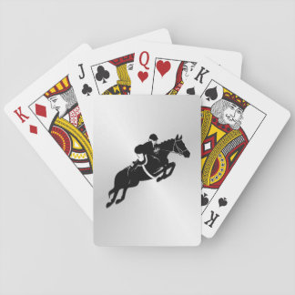 Equestrian Jumper Playing Cards
