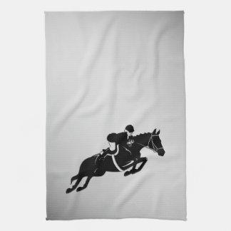 Equestrian Jumper Tea Towel