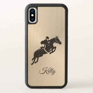 Equestrian Jumper with Name iPhone X Case