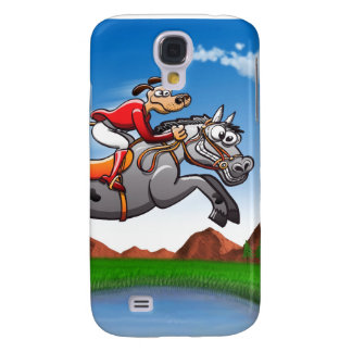 Equestrian Jumping Dog Galaxy S4 Cover