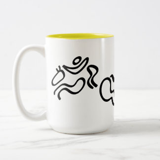 Equestrian Jumping Two-Tone Coffee Mug