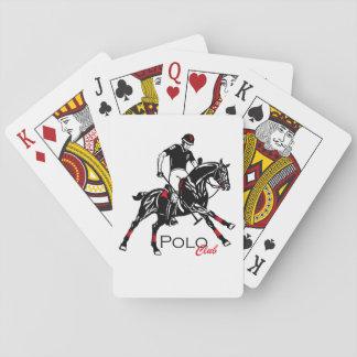 equestrian polo sport club playing cards