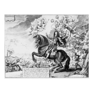Equestrian Portrait of Charles II  with Gods Postcard