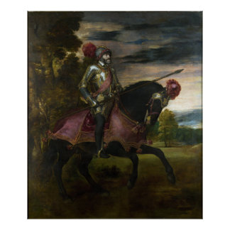 Equestrian Portrait of Charles V by Titian Poster