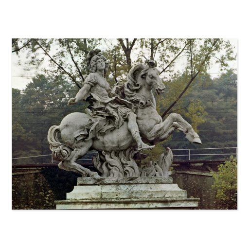 Equestrian Portrait of Louis XIV 2 Post Card