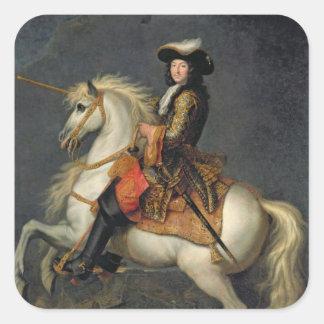 Equestrian Portrait of Louis XIV Square Sticker