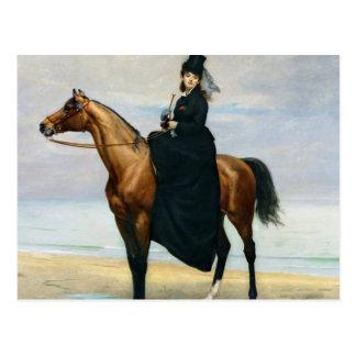 Equestrian Portrait of Mademoiselle Croizette Postcard