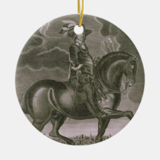 Equestrian Portrait of Oliver Cromwell (1599-1658) Ceramic Ornament