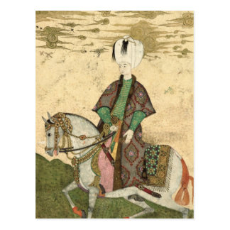 Equestrian portrait of Sultan Osman II  1618 Postcard