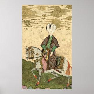 Equestrian portrait of Sultan Osman II  1618 Poster