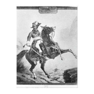 Equestrian portrait of Thomas Alexandre Canvas Print
