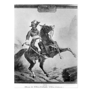 Equestrian portrait of Thomas Alexandre Postcard