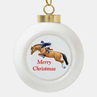Equestrian Show Jumper Horse Christmas Ornament