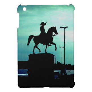 Equestrian Silhouette With Old World Warrior Statu Cover For The iPad Mini