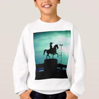 Equestrian Silhouette With Old World Warrior Statu Sweatshirt