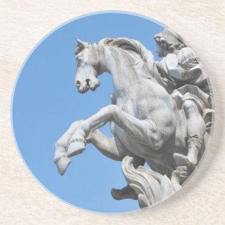 Equestrian statue beverage coasters