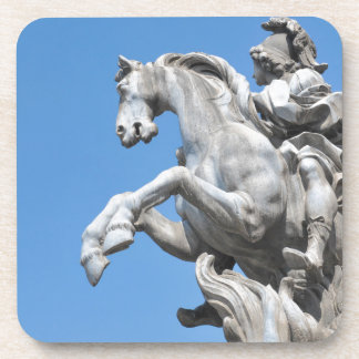 Equestrian statue drink coasters