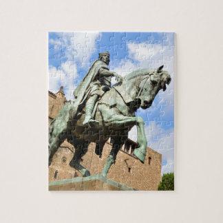 Equestrian statue in Barcelona, Spain Jigsaw Puzzle