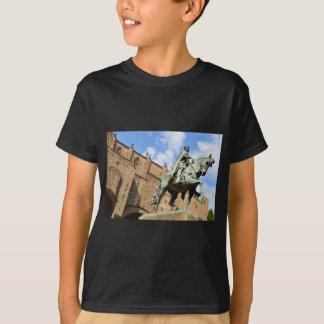 Equestrian statue in Barcelona, Spain T-Shirt