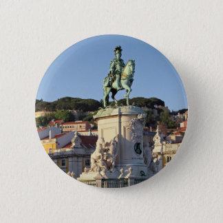 Equestrian statue of King José I, Lisbon 6 Cm Round Badge
