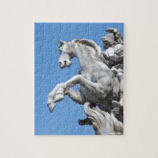Equestrian statue puzzles