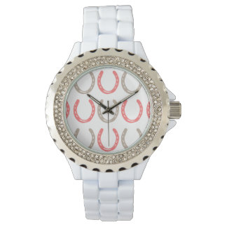Equestrian Themed Horse Shoes Pattern Watch