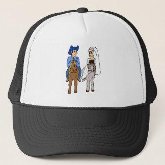 Equestrian Wedding Horse Theme Wedding Bride Groom Trucker Hat