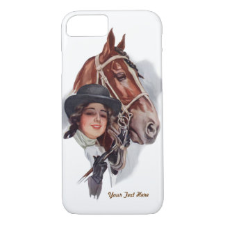 Equestrian Woman and Horse- Customise iPhone 7 Case
