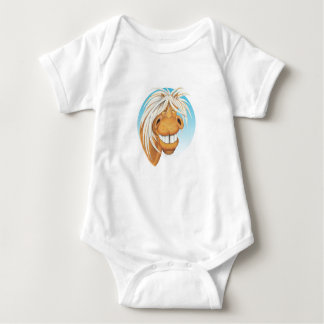 Equi-toons 'Cheeky Chappie' horse companion. Baby Bodysuit