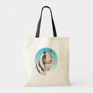 Equi-toons , 'Say Cheese!, Coloured Cob companion Tote Bag