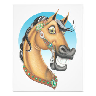 Equi-toons 'Western Showstopper' horse poster