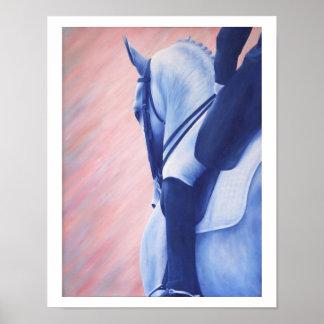 Equine Art Dressage Horse Poster Print